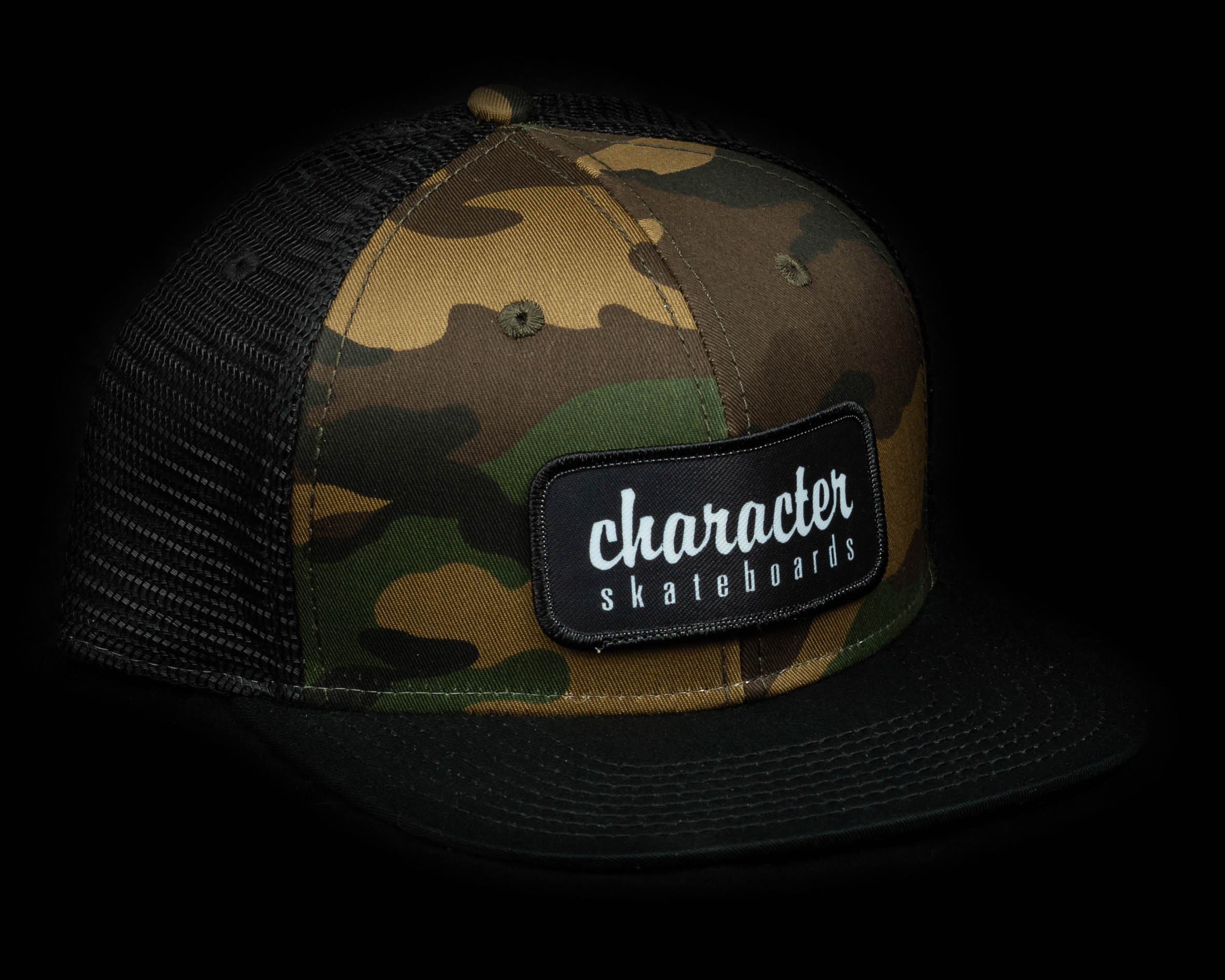 1126fa0d Mesh Snapback - Camo/Black | Character Skateboards | Chicago's ...